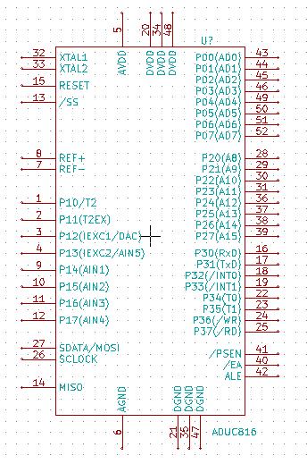 KiCad microprocessor component