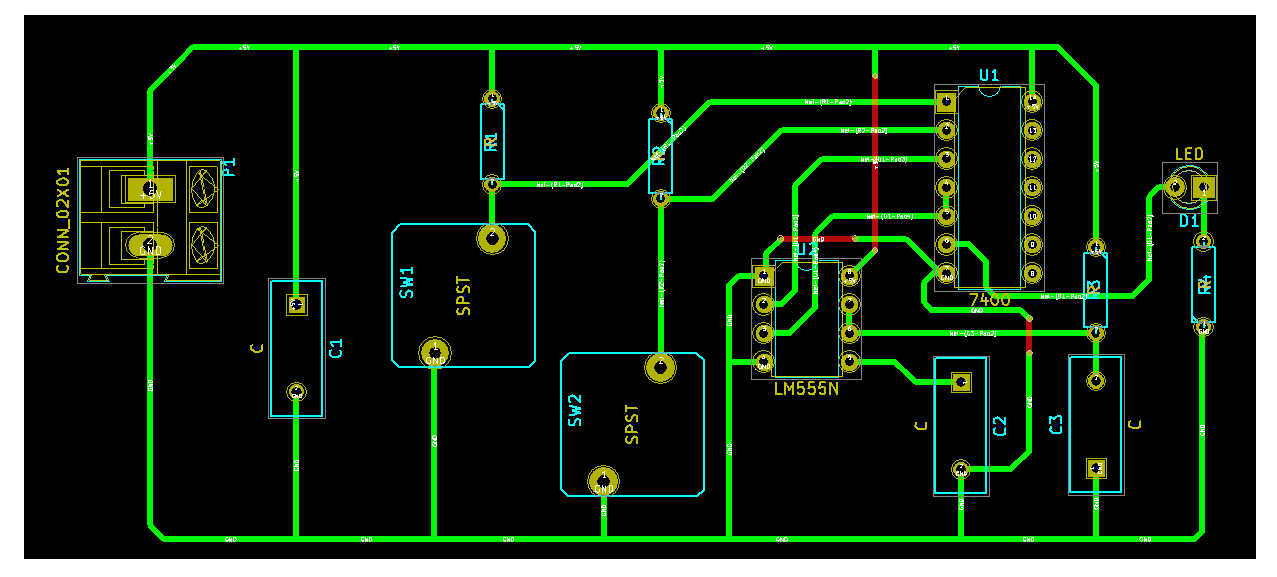 KiCad - CvPcb screen