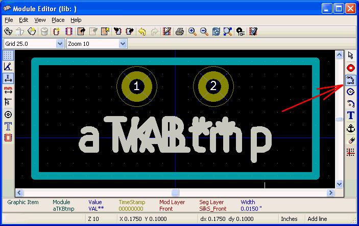 Module Editor- Add graphic line